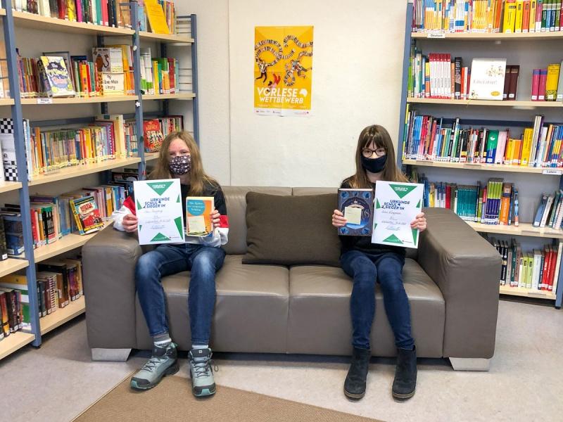 Siegerinnen im Vorlesewettbewerb