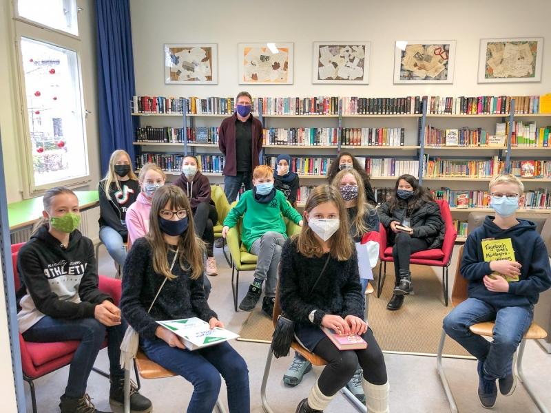 Teilnehmer im Vorlesewettbewerb